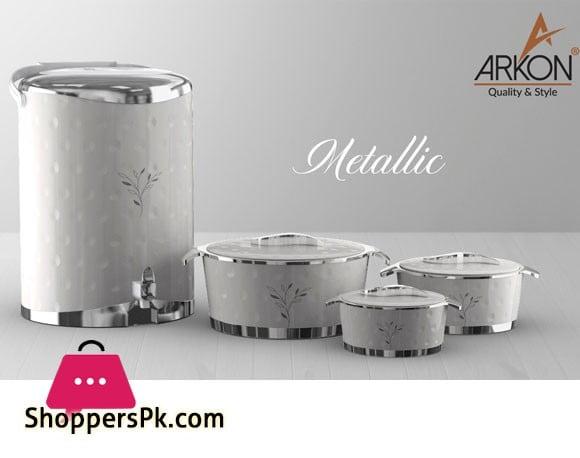4 Pcs Arkon Food Warmer Set - Hot Pot & Cooler Set