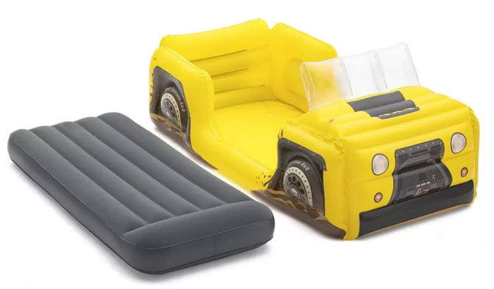 Bestway Airbed 67714 Inflatable Car Bed Dreamchaser Comfort Air Mattress With Backrest For Kids Furniture