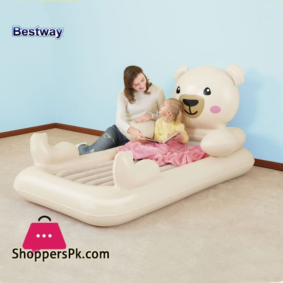 Bestway DreamChaser Teddy Bear Kids Airbed Toddlers Inflatable Bed - 67712