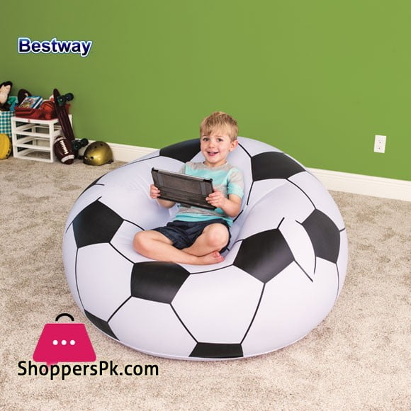 Bestway Inflattable Beanless Soccer Ball Chair 75010