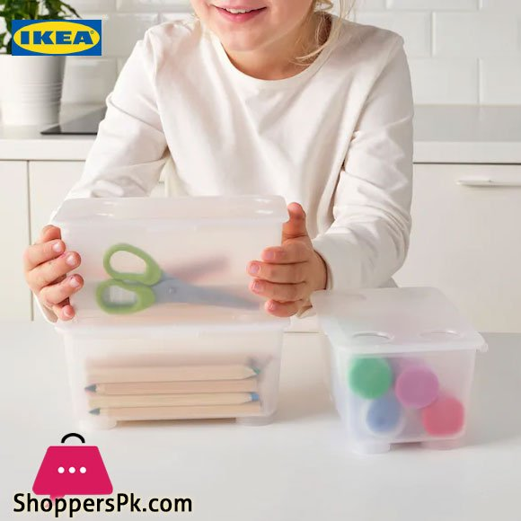 Ikea GLIS Box With Lid 17x10 cm Pack of 3