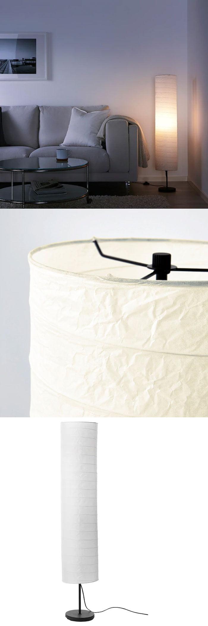 Ikea HOLMO Floor Lamp White