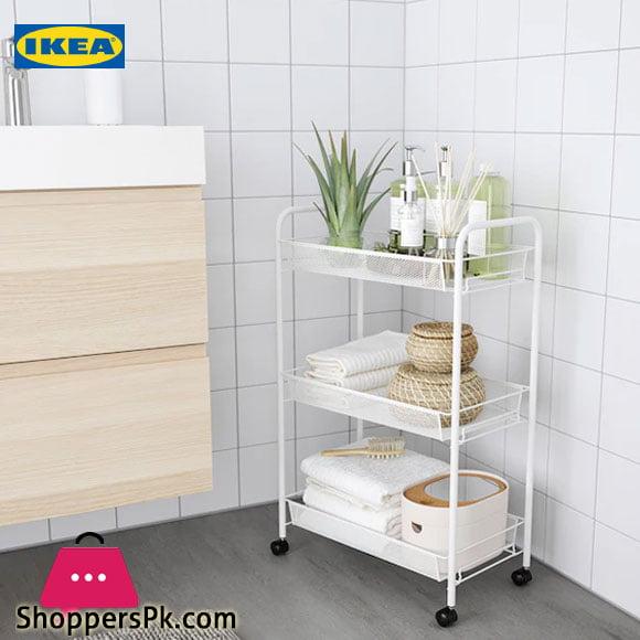 Ikea HORNAVAN Trolley White 26x48x77 cm