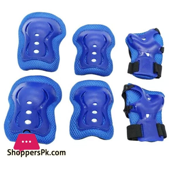 Kids Children Sports Protective Gear Elbow Pads Adjustable Wrist Guards Roller Skating Safety Protection 6 Pieces Set Knee Pads