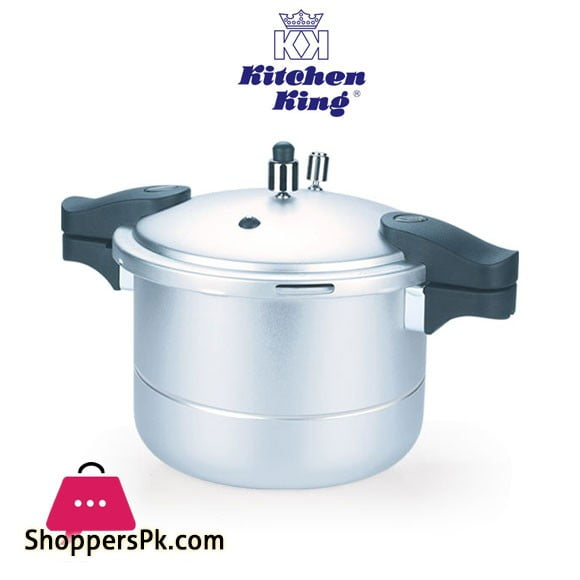 Kitchen King Blaze Pressure Cooker with Steamer – 9 Liters