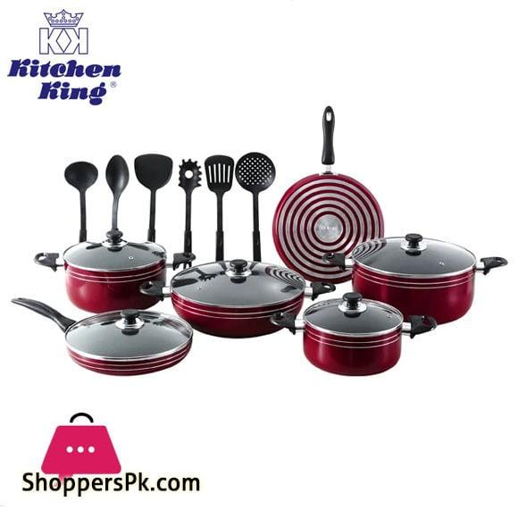 Kitchen King Karfto Plus Non-Stick Cookware Set 17 Pcs