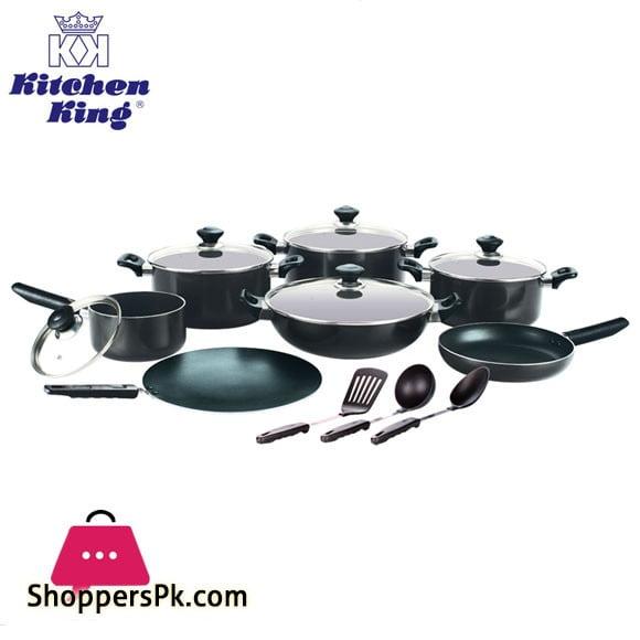 Kitchen King Lumina Non-Stick Cookware Set 15 Pcs