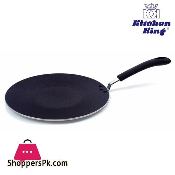 Kitchen King Non-Stick Tawa Super Traditional Curved Heavier Body – 33cm