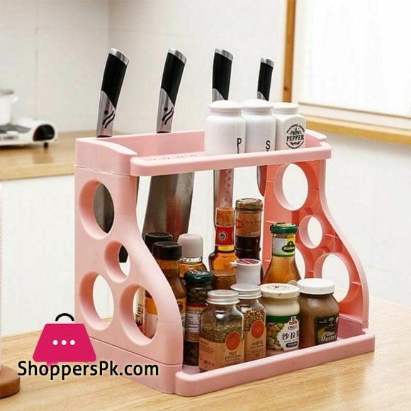 Kitchen Organizer Holder Storage Spice Rack Shelf Dish Stuff House Cutlery