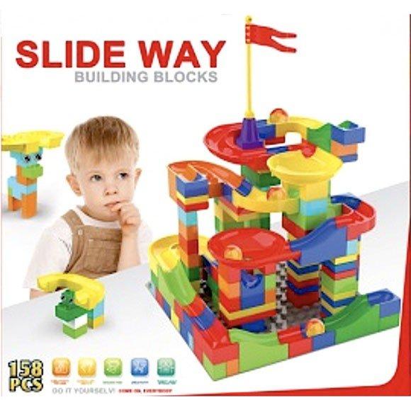 Slide Way Marble Run Building Blocks
