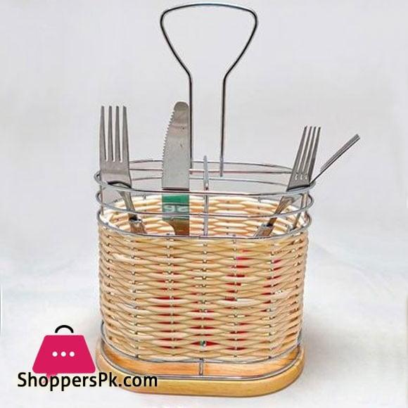 Plastic Cane Cutlery Drain Storage Rack