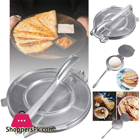Tortita Chapati Maker - Aluminium Dough Press Heavy Duty Restaurant Tool 8 - inch