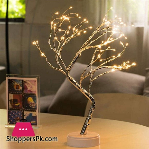 Tree Shape Copper Wire Firefly LED Lamp 108 LED