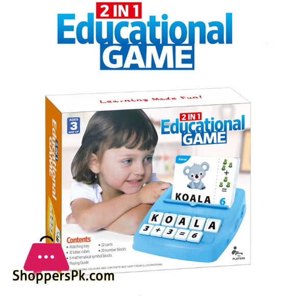 2 in 1 Educational Card Game For Kid