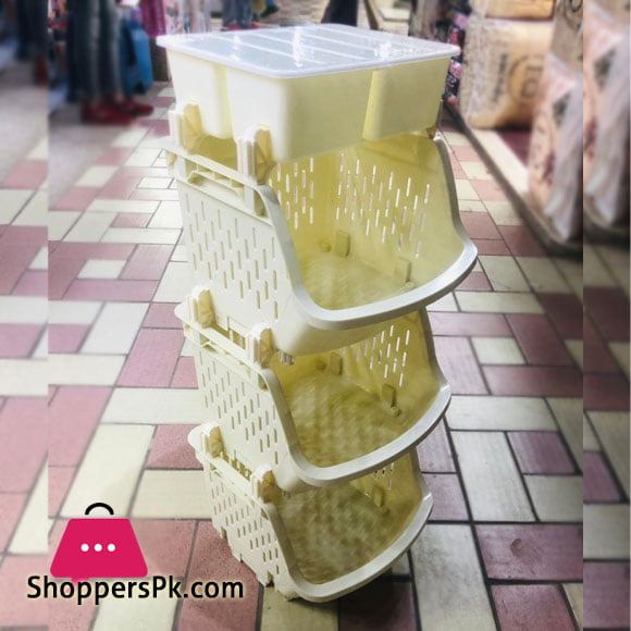 3 Tier Kitchen Organization and Storage Cabinet Containers