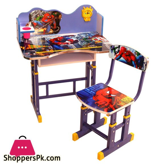 3D Kids Study Table And Chair Spiderman