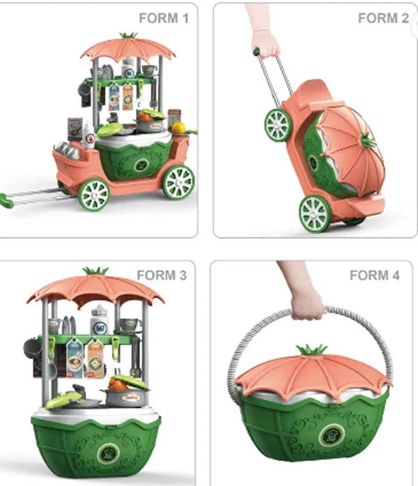 4 in 1 Surprise Kitchen Trolley For Kid