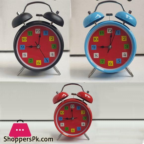 Alarm Clock Home Decor Ticking Retro Vintage Twin Bell Desk Bedside Alarm Clock Antique Clock Decoration Accessories