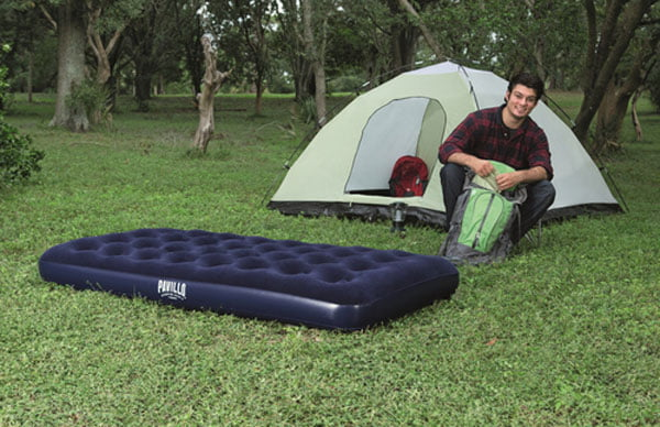 Bestway Inflatable Mattress Camping Air Bed with Twin Foot Pump – 67001