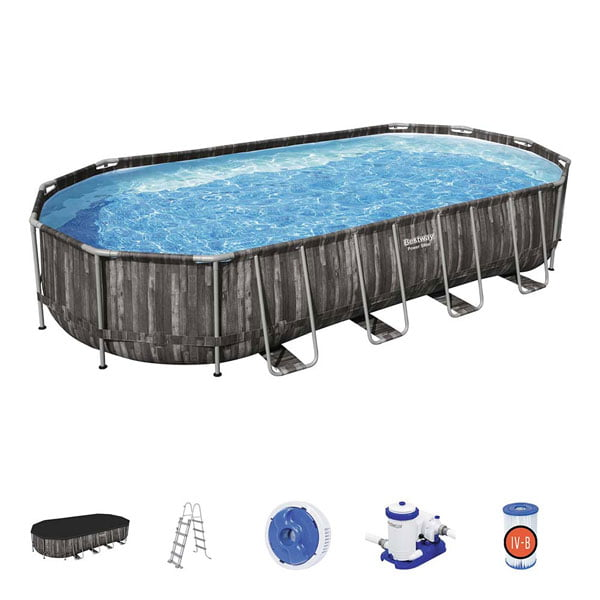 Bestway Power Steel Oval Above Ground Pool-5611R