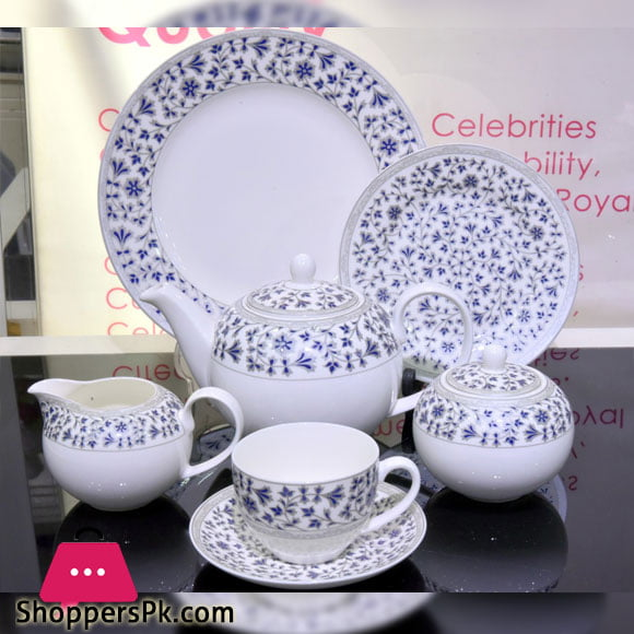 Solecasa 24 Pcs Tea Set - Ceramic Ware - Floral Printed
