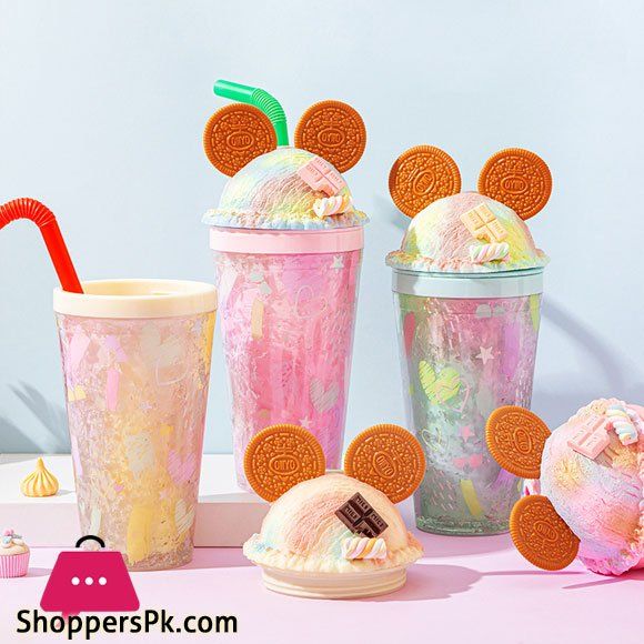 Cookie Mouse Ear Sweets Rainbow Tumbler 450ml 16oz Double Wall