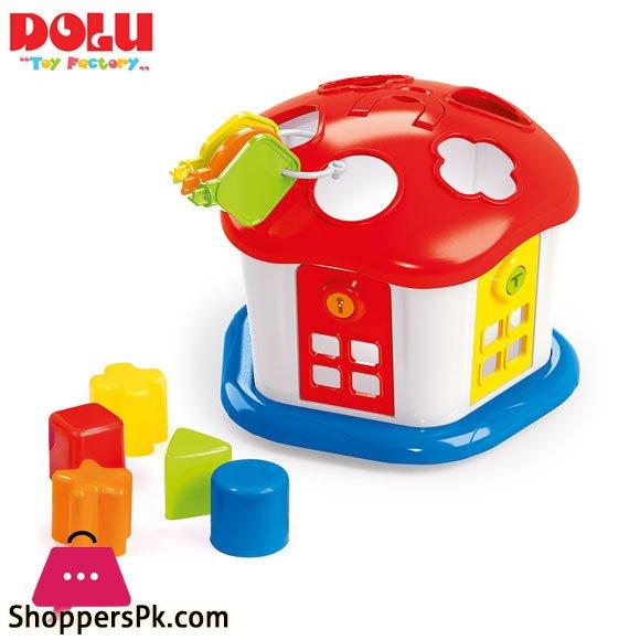 Dolu Shape Sorter Sweet House with Lockable Doors - 5096