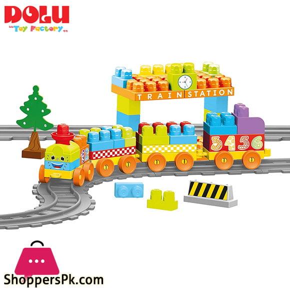 Dolu Train Set 89 Pieces Turkey Made - 5082