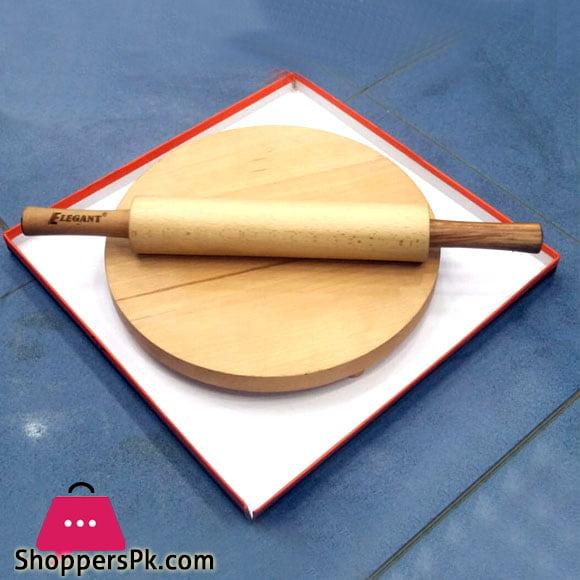 Elegent Solid Wood Rolling Pin Roti Maker (Chakla Belan)