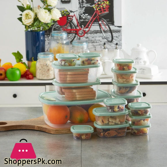 Emrico Airtight Food Container Home Box Set of 17 Pieces Iran Made