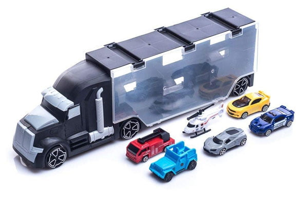 Exports Co 6-Wheeler Huge Car Carrier Truck Toy Vehicle Carry Case