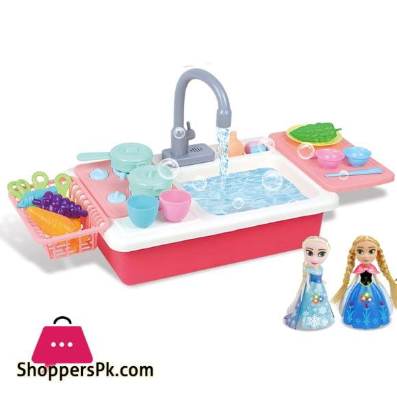 Frozen 2 Children Kitchen Dish Washing Sink Set