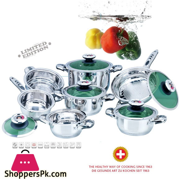 Germany Style Cookware Set Duel Bottom Set of 12