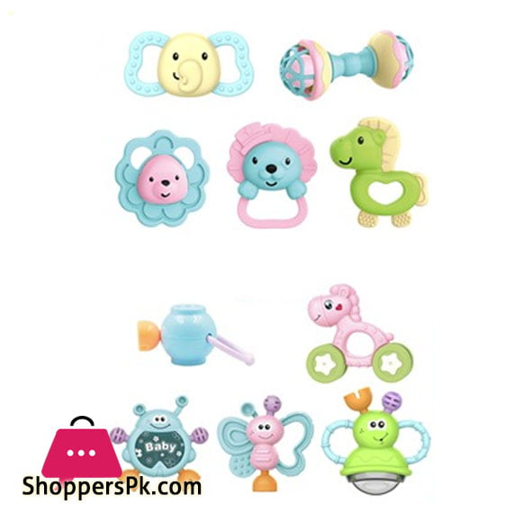Happy Animal Baby Rattle Set