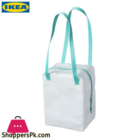 Ikea 365+ Lunch Bag White / Turquoise