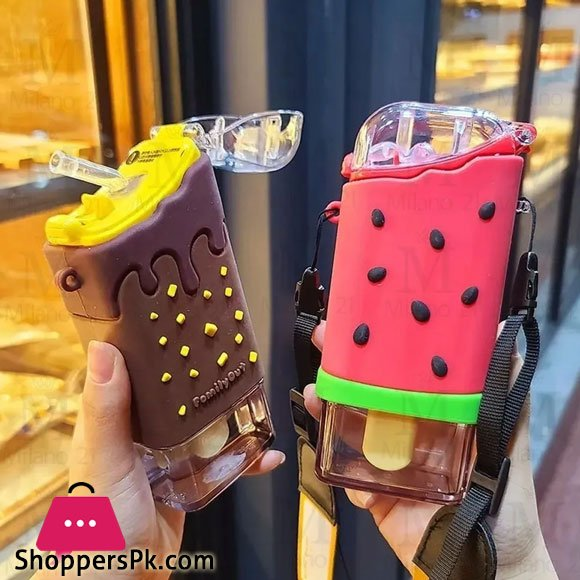 Ice Pop Shaped Canteen Bottle For Water 300-ML