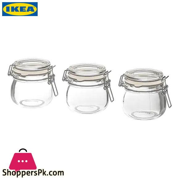 Ikea KORKEN Jar With Lid Clear Glass13 cl