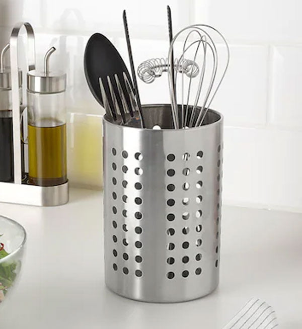 Ikea ORDNING Stainless Steel Cutlery Holder Large