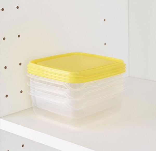 Ikea PRUTA Food Container Yellow 3 Pack