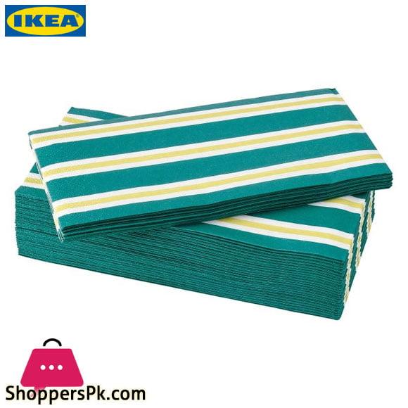 Ikea SOMMARLIV Paper Napkin – Stripes 38 x 38 Cm