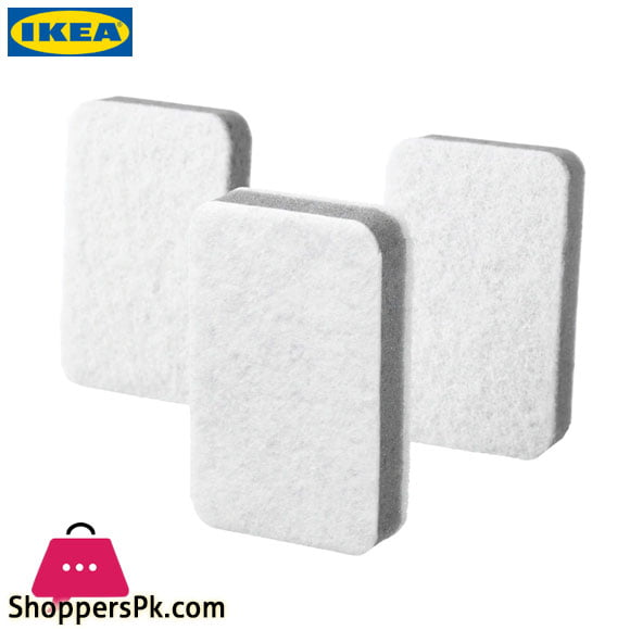 Ikea SVAMPIG Sponge - Grey White - 3 Pack