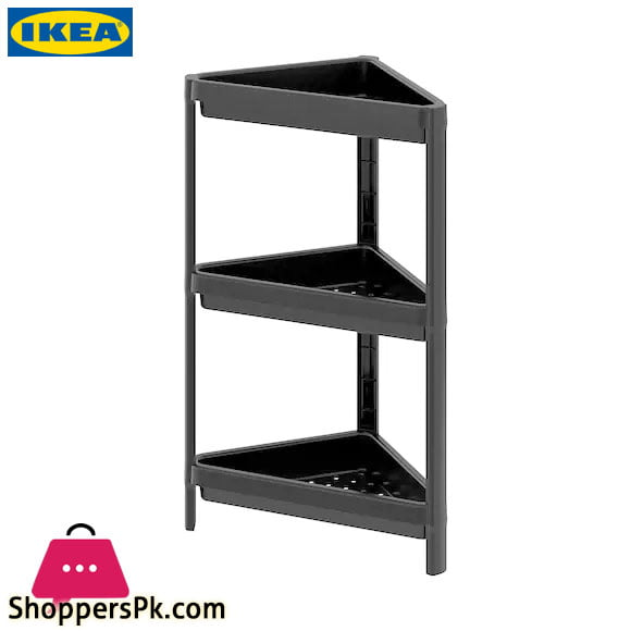 Ikea VESKEN Corner Shelf Unit - Black