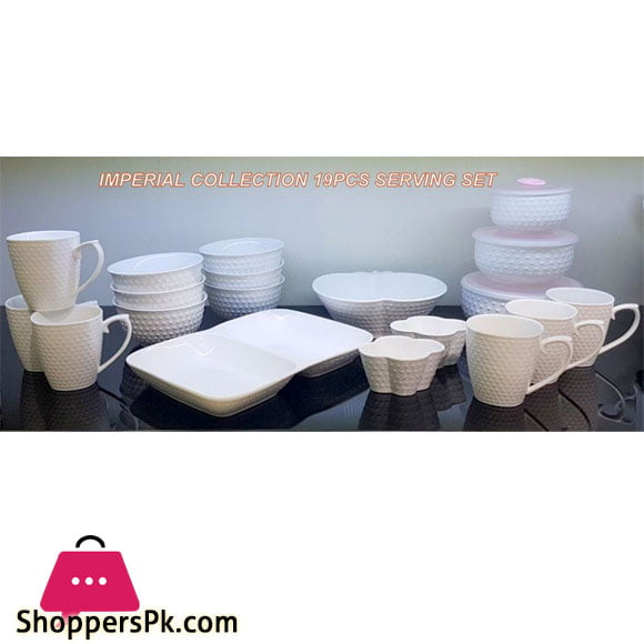 Imperial Collection Ceramic Serving Set of 19 Pcs