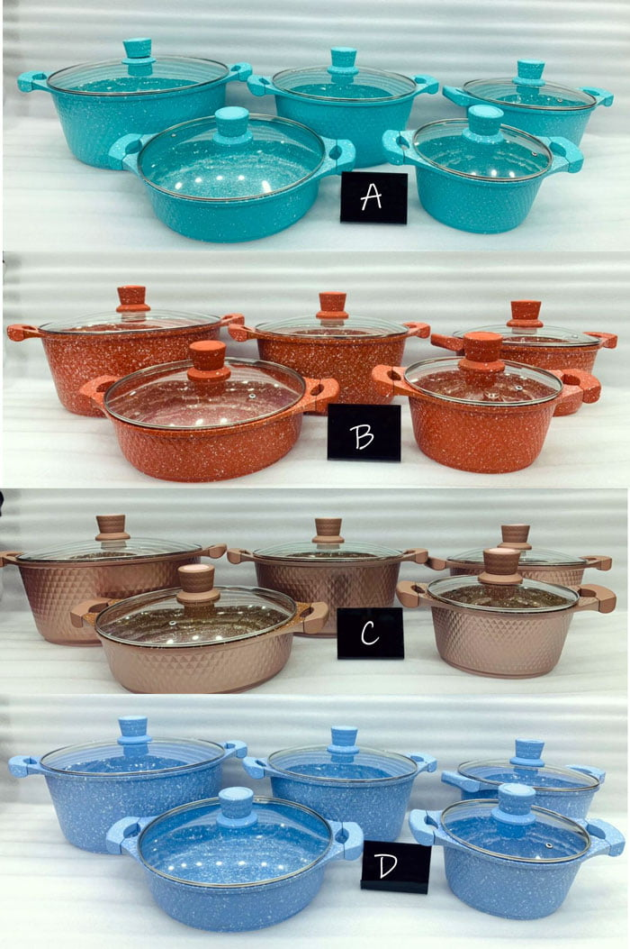 JIO Original Granite Cookware Set 10 Pcs