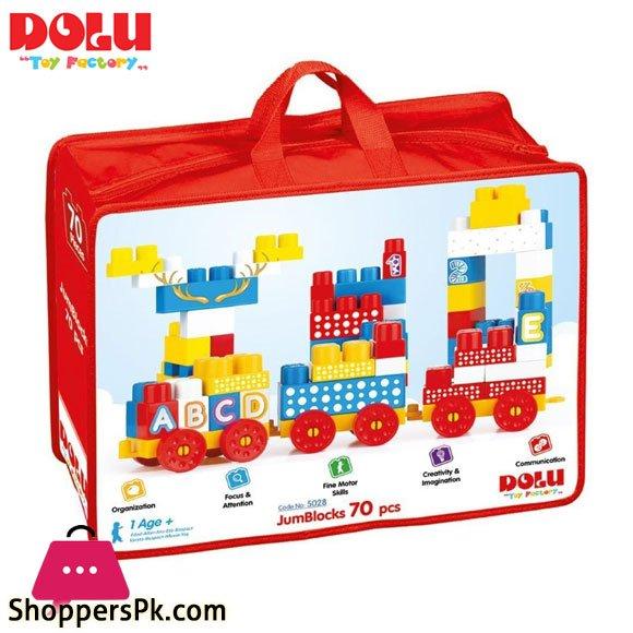 Dolu Jumbo Blocks 70 Piece in Bag – 5028 Turkey