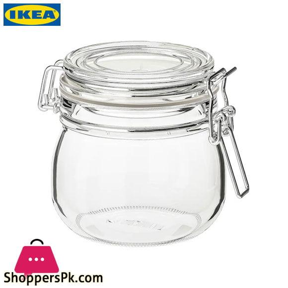 KORKEN Jar With Lid Clear Glass 0.5 Liter