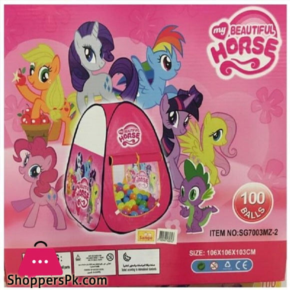 My beautiful Horse Play House tent Twilight Sparkle with 100 balls for Girls Multi-color