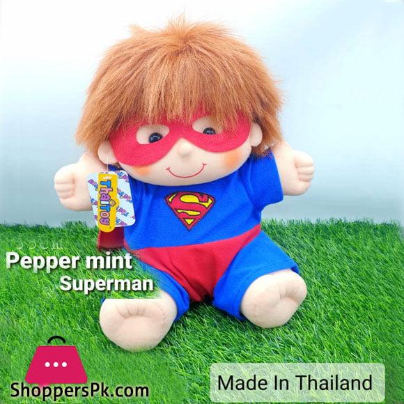Peppermint Superman Plush Doll 35 CM - Thailand Made