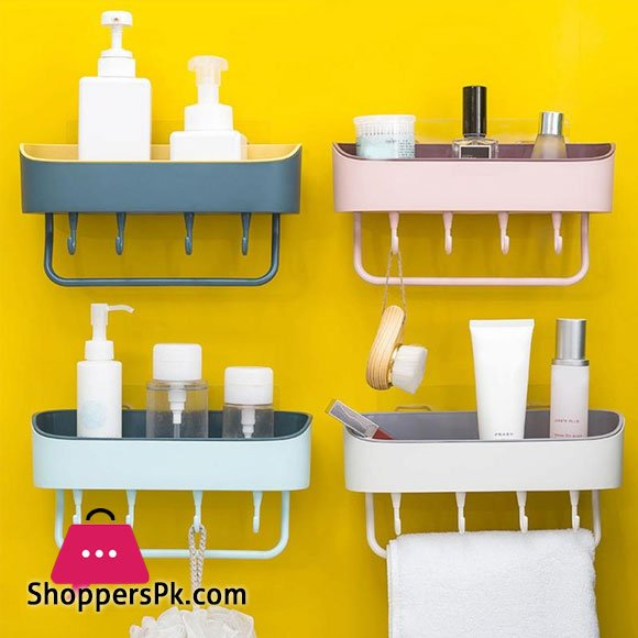 Plastic Kitchen Bathroom Shelf Rack Organizer