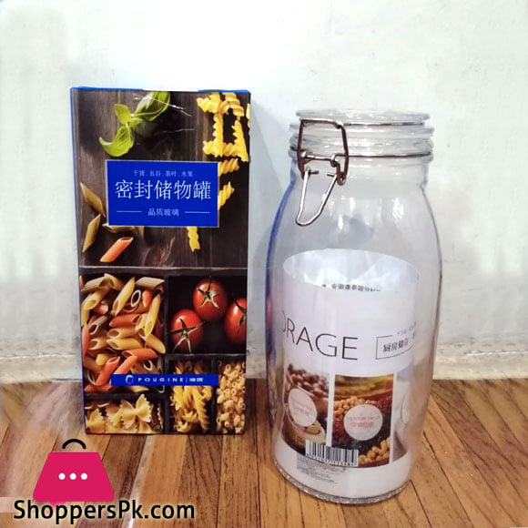 Pougine Airtight Glass Jar 1.5 Liter
